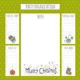 Christmas party organization Stock Images