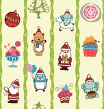 Christmas Party Pattern Stock Images