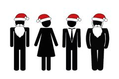 Christmas party pictogram people stock illustration