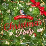 Christmas Party poster design template. EPS 10 Stock Photo