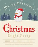 Christmas Party Poster With Santa Stock Image