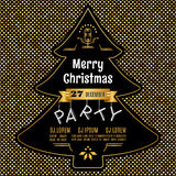 Christmas party poster Vector abstract gold and black background Stock Images