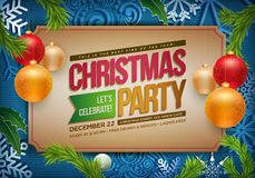 Christmas Party Poster royalty free illustration