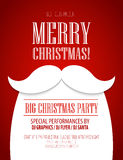 Christmas Party Poster. Vector Illustration Stock Image