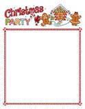Christmas party printout with border Stock Images