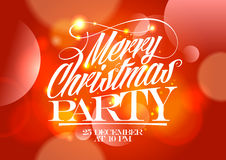 Christmas party red design. Royalty Free Stock Photos