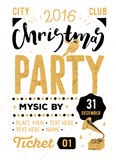 Christmas party retro typography poster Stock Photography