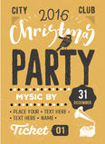 Christmas party retro typography poster Royalty Free Stock Images