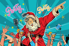 Christmas party Santa Claus singer Royalty Free Stock Photography