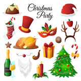 Christmas Party Set Royalty Free Stock Images