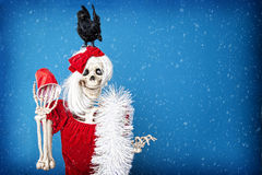 Christmas Party Skeleton Royalty Free Stock Photos