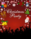 Christmas party stationary. With holiday graphics Royalty Free Stock Photo