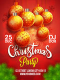 Christmas Party template, banner or Flyer. Royalty Free Stock Image