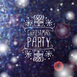 Christmas party - typographic element Stock Image