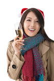 Christmas party woman Royalty Free Stock Images