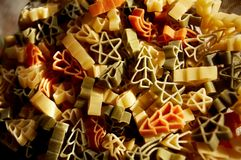 Christmas pasta stock photos