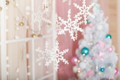 Free Christmas Pastel Decorations In A Studio Stock Photo - 99876980