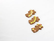 Christmas pastries. Three gingerbread in a star form invite to the taste Royalty Free Stock Photo
