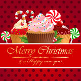 Christmas pastry. Christmas pastry and sweets. Vector illustration Royalty Free Stock Images