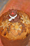Christmas Pastry with Reindeer and Snowflakes Stock Image