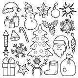 Christmas Patch Set Royalty Free Stock Image