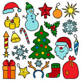 Christmas Patch Set Stock Images