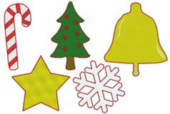Christmas Patches Stock Images