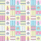Christmas patchwork Royalty Free Stock Images