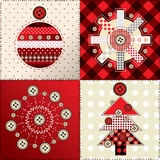 Christmas patchwork Stock Photo