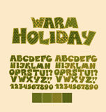 Christmas patchwork style abc font. Stock Photo