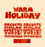 Christmas patchwork style abc font. Royalty Free Stock Photography