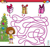 Christmas path maze game royalty free illustration