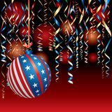 Christmas patriot red Royalty Free Stock Photo