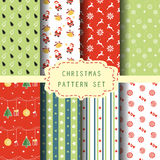 Christmas patten set 4. Different Christmas pattern set, vector, Endless texture can be used for wallpaper, pattern fills, web page,background,surface Royalty Free Stock Photos