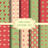 Christmas patten set. 10 christmas patterns, vector. Endless texture can be used for wallpaper, pattern fills, web page background,surface textures Royalty Free Stock Image