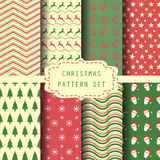 Christmas patten set, vintage and retro style Stock Photography