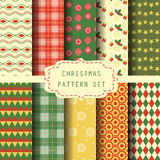 Christmas patten set, vintage and retro style Royalty Free Stock Photos