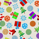 Christmas pattern. Seamless background with Christmas design elements Royalty Free Stock Images