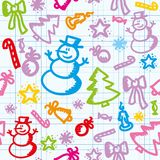 Christmas pattern Stock Images