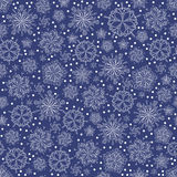 Christmas pattern. Winter Christmas vector seamless background with snowflakes Stock Image