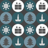 Christmas pattern. Repeating pattern with a Christmas symbols Stock Image