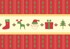 Christmas pattern background Stock Image