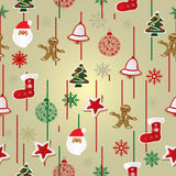 Christmas pattern background Stock Images