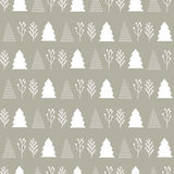 Christmas pattern  in the background kraft Royalty Free Stock Photography