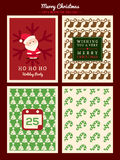 Christmas Pattern background for party poster flyer card Royalty Free Stock Photos