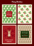 Christmas Pattern background for party poster flyer card Stock Image