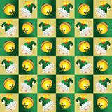 Elf and bell seamless pattern Royalty Free Stock Image