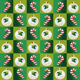 Elfs and candy seamless pattern Royalty Free Stock Images