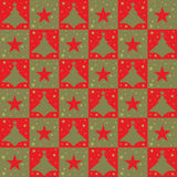 Christmas trees and stars seamless pattern - vector. Christmas patterns with trees and stars. Useful also as design element for background or gift wrapping. Eps stock illustration