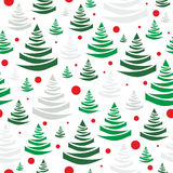Christmas trees seamless pattern - vector Royalty Free Stock Images